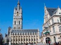 Часовая башня в городе Гент Бельгия