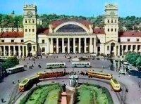 Харьковский ж.д. вокзал 1952 год