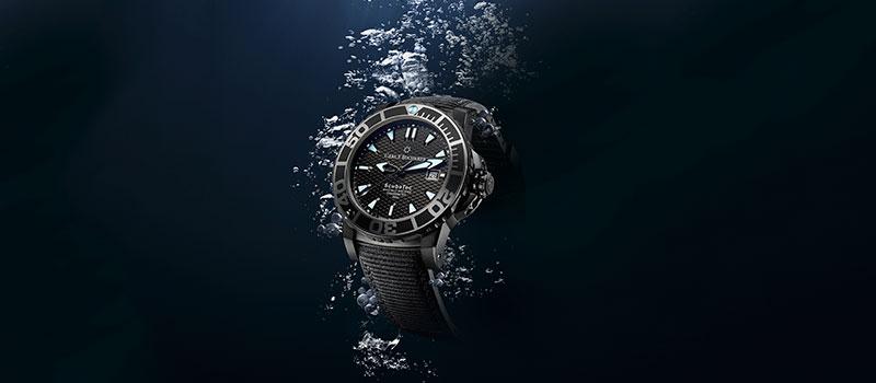 Новые часы для дайвинга Patravi ScubaTec Black от Carl F. Bucherer