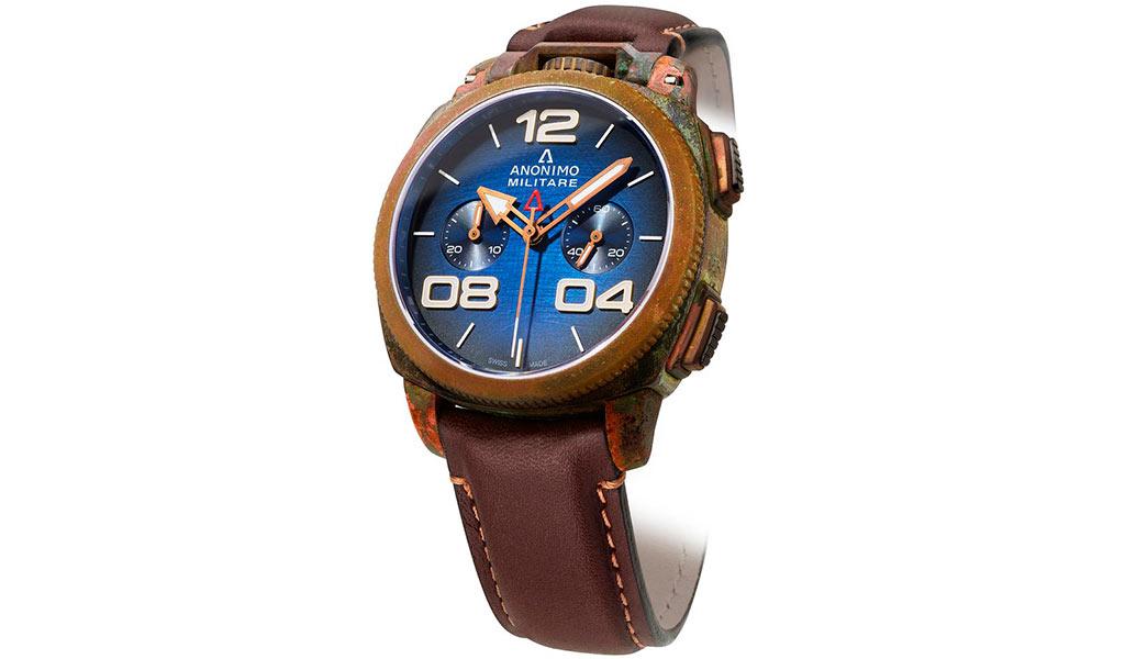 Наручные часы из бронзы Anonimo Militare Chrono