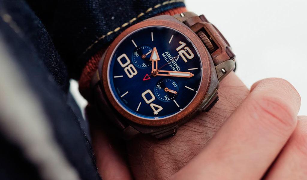 Часы из бронзы Anonimo Militare Chrono