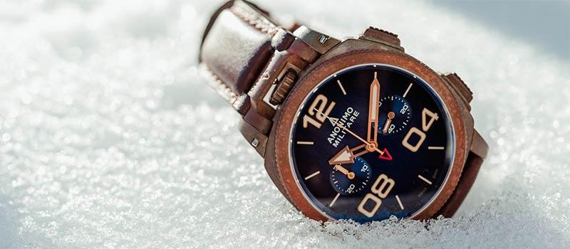 Наручные часы из бронзы Anonimo Militare Chrono Oxidized Bronze