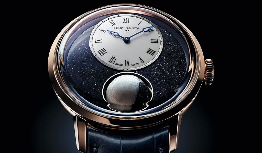 Швейцарские часы с лунным календарем Arnold & Son