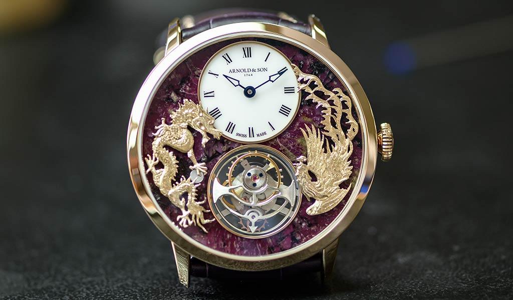 Часы Arnold & Son Ultrathin Tourbillon Dragon & Phoenix
