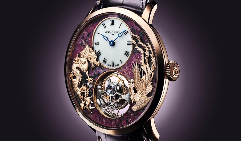 Тонкие часы Arnold & Son Ultrathin Tourbillon Dragon & Phoenix