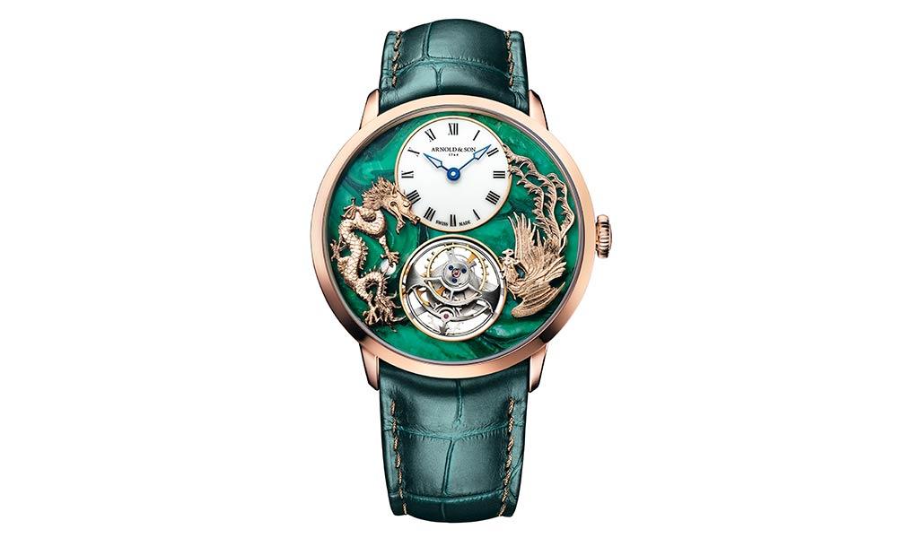 Наручные часы с турбийоном Arnold & Son Ultrathin Tourbillon Dragon & Phoenix