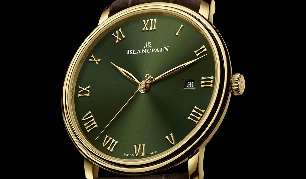 Тонкие золотые часы Blancpain