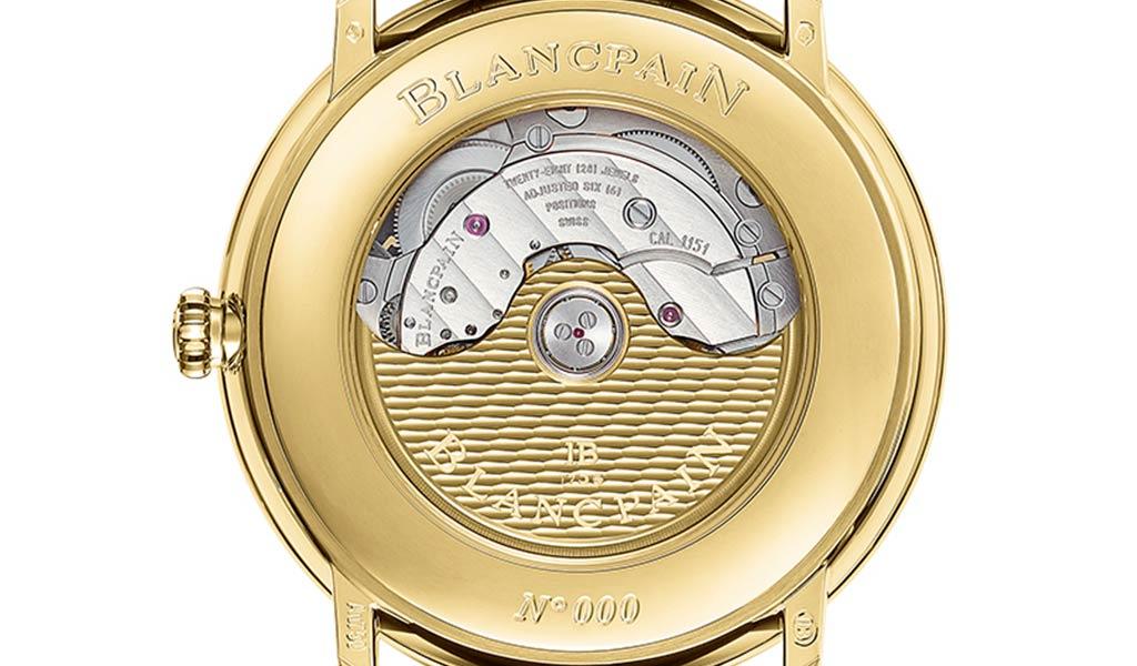 Новые золотые часы Blancpain