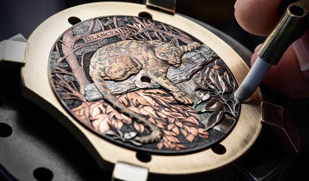Работа по созданию циферблата для часов Blancpain