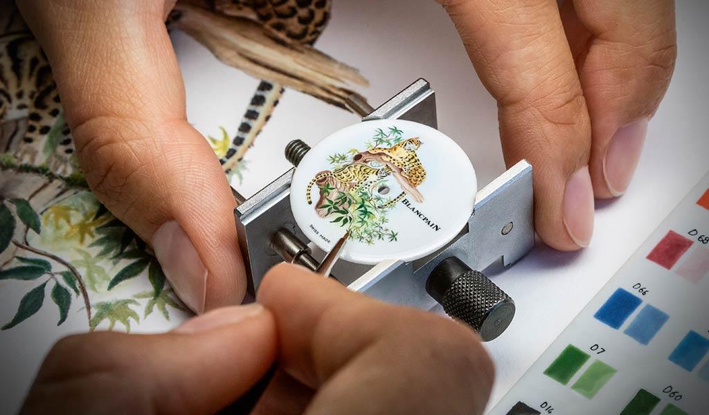Работа по созданию часов Blancpain