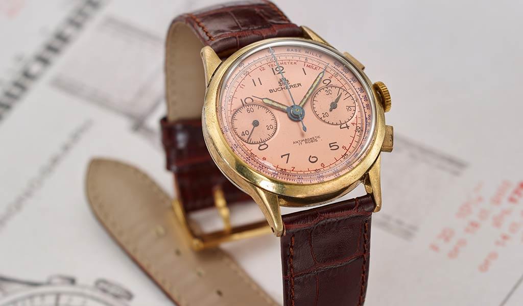 Винтажные швейцарские часы Carl F. Bucherer