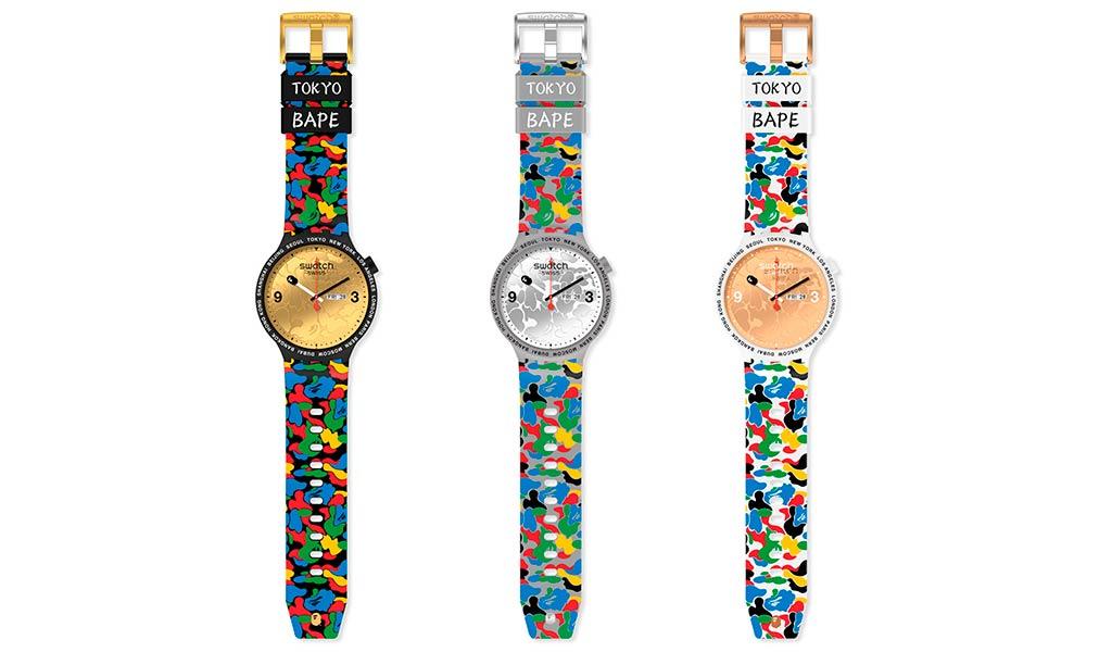 Наручные часы Swatch x BAPE Big Bold