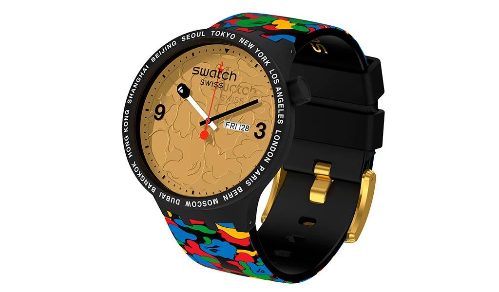Часы наручные Swatch x BAPE Big Bold