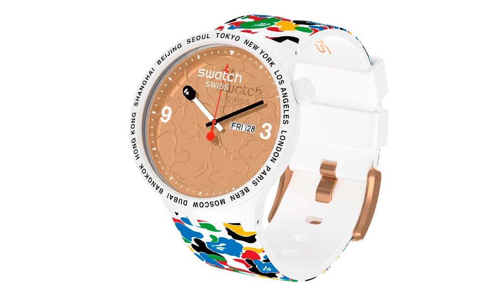 Часы Swatch x BAPE Big Bold