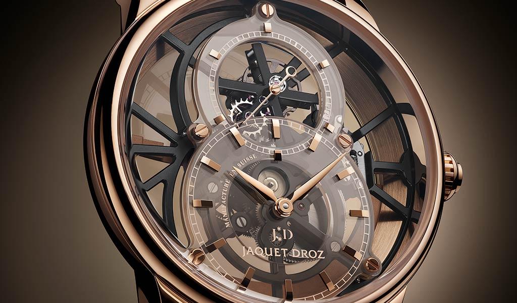 Часы Grande Seconde Skelet-One Tourbillon от Jaquet Droz