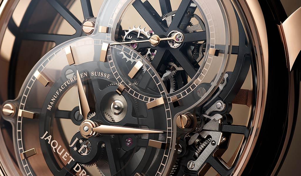 Часы с турбийоном Grande Seconde Skelet-One Tourbillon от Jaquet Droz