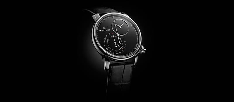 Яркий и насыщенный цвет оникса погружает часы Grande Seconde в магию черного
