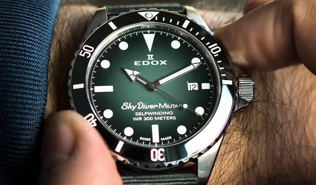 Часы Edox Skydiver Military