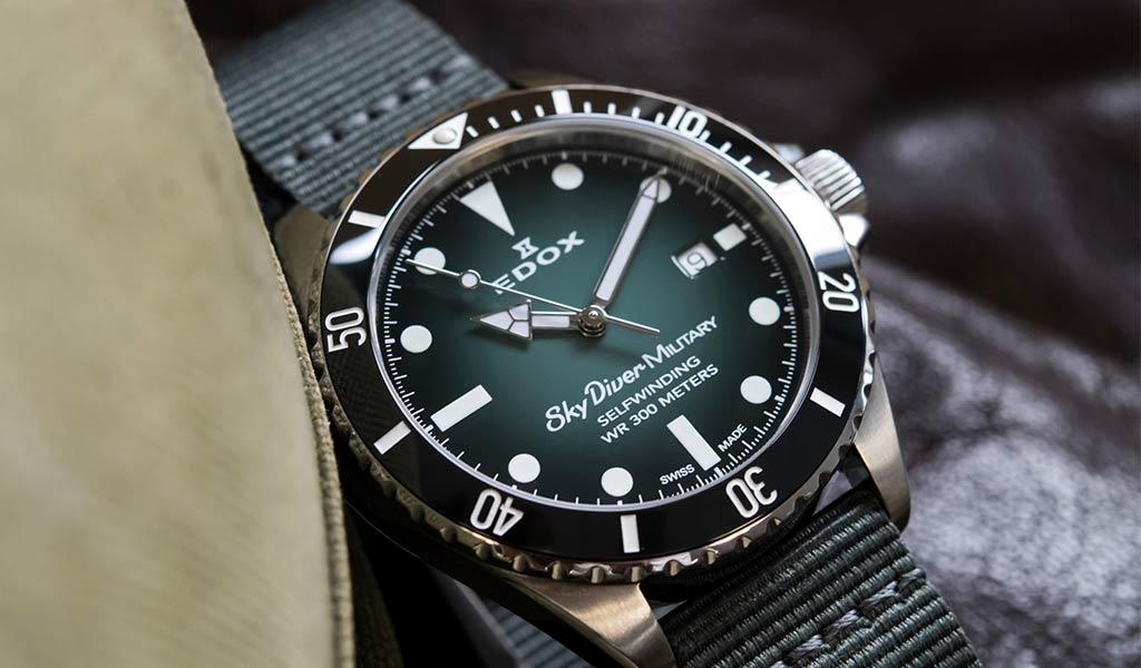 Наручные военные часы Edox Skydiver Military