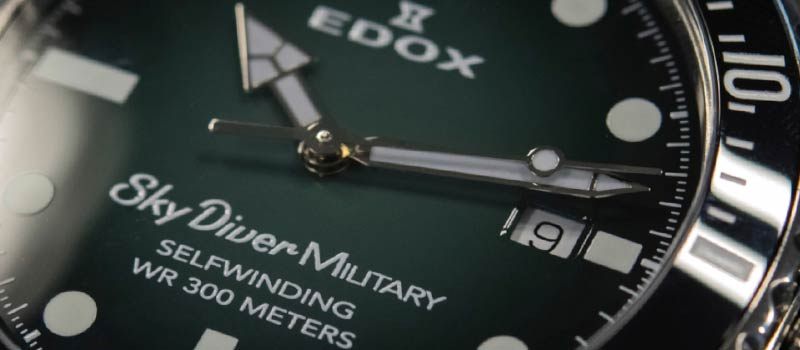 Военные наручные часы Edox Skydiver Military Limited Edition