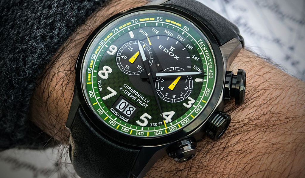 Хронограф Edox Chronorally X-Treme Pilot