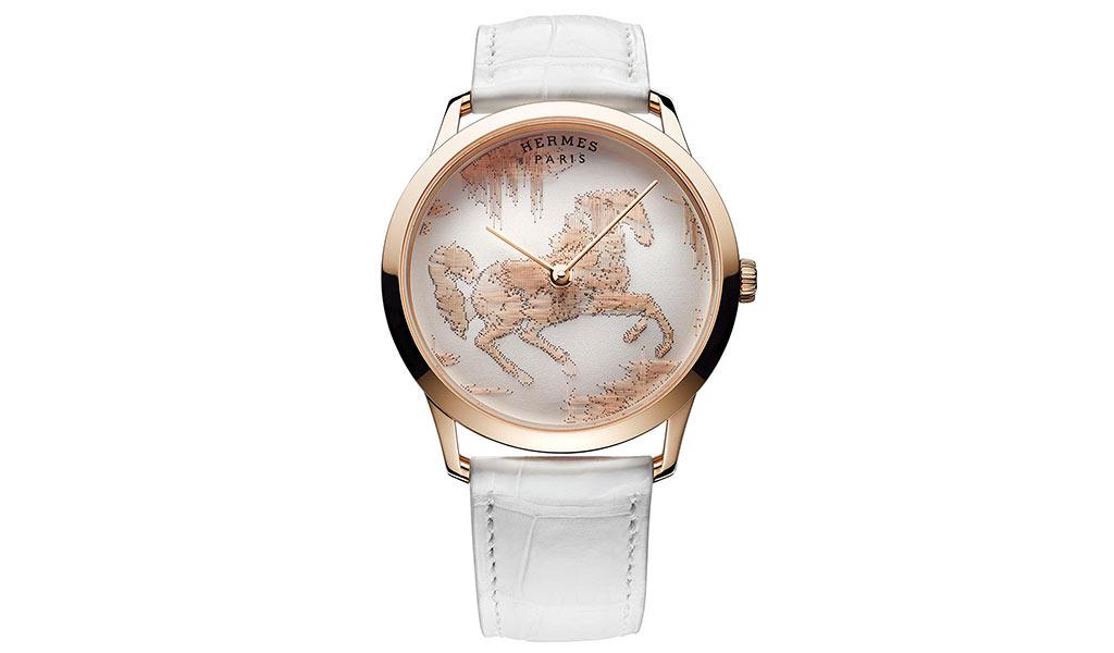Наручные часы Slim d'Hermes Cheval Ikat