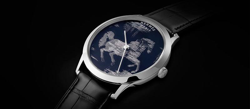 Наручные часы «Slim d'Hermes Cheval Ikat» лимитированный выпуск