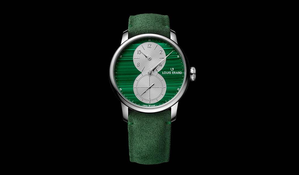 Швейцарские механические часы Excellence Regulateur Malachite