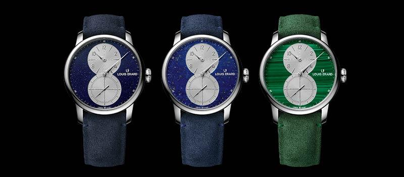 Новые часы Excellence Regulateur с необычными циферблатами от Louis Erard