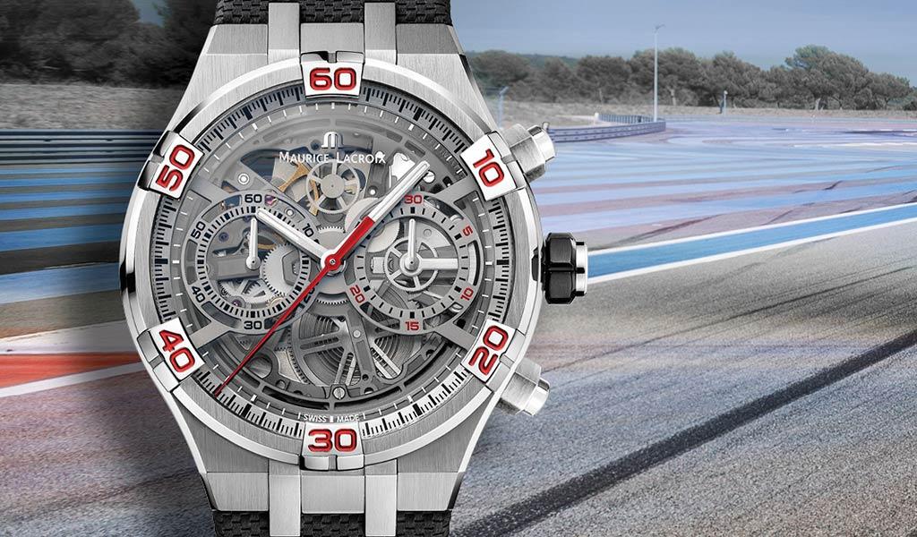 Новые швейцарские часы AIKON Chronograph Skeleton Automatic Mahindra Racing