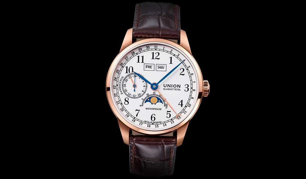 Часы Union Glashütte 1893 Johannes Durrstein Moonphase