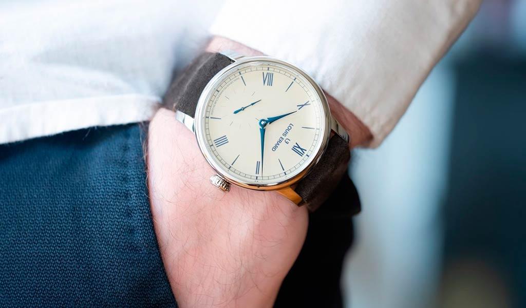 Часы с эмалевым циферблатом grand feu Луи Эрар