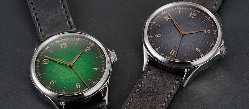 Часы Model 1 Fume с эмалевым циферблатом от шотландского бренда Anordain