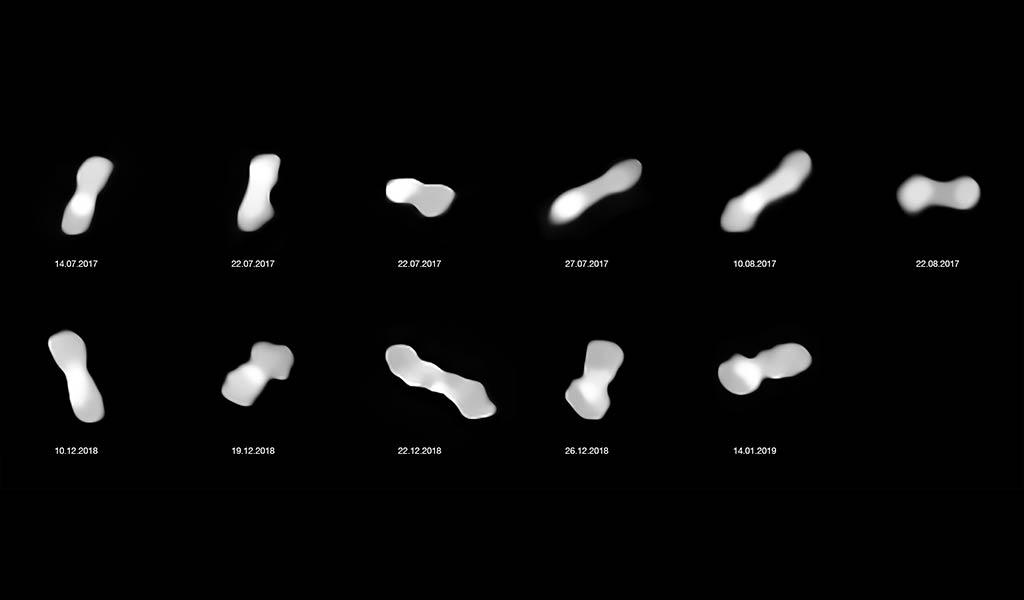 Необычный астероид в форме косточки