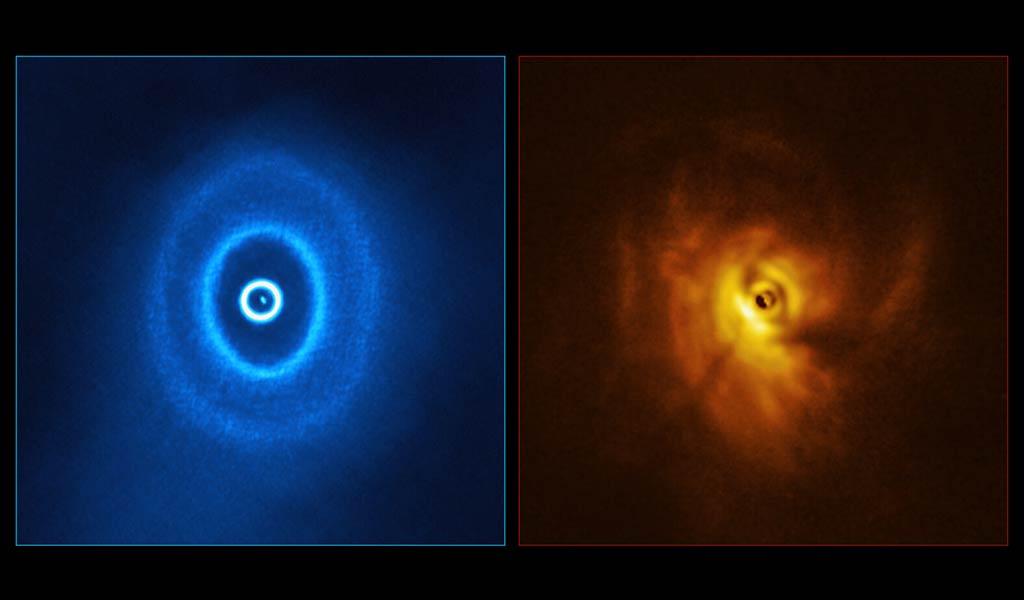 Изогнутый диск в тройной звездной системе