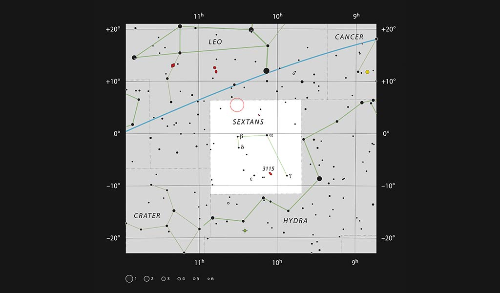 Карта созвездия