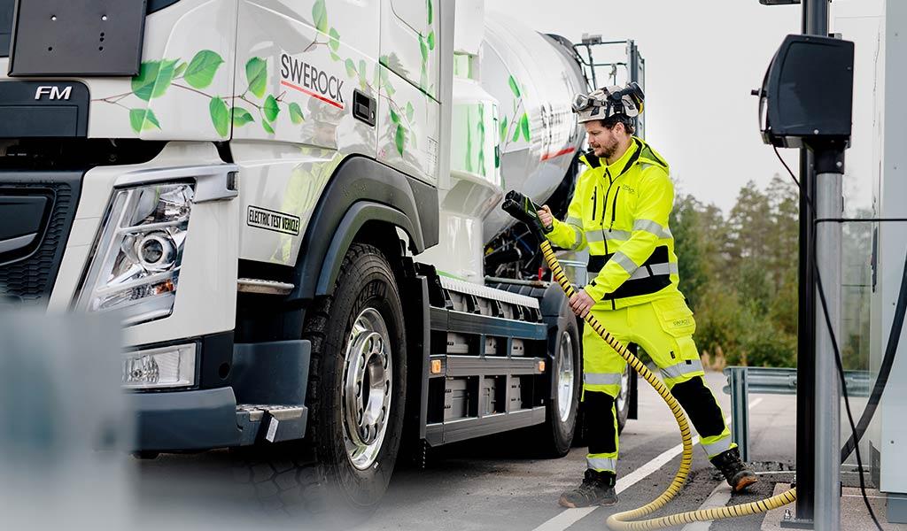 Электрический грузовик Volvo