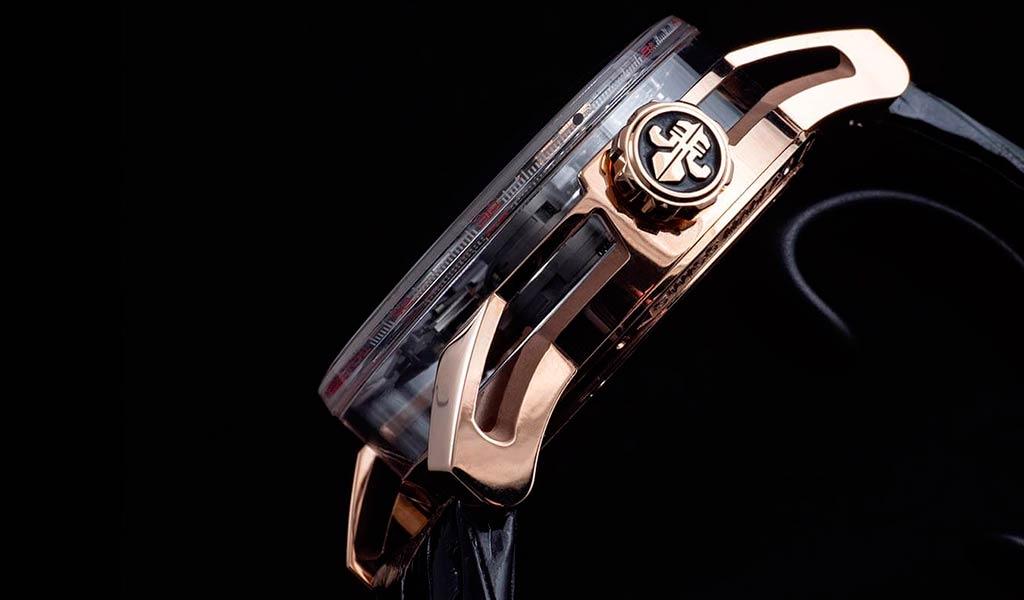Часы с двумя турбийонами Луи Муане