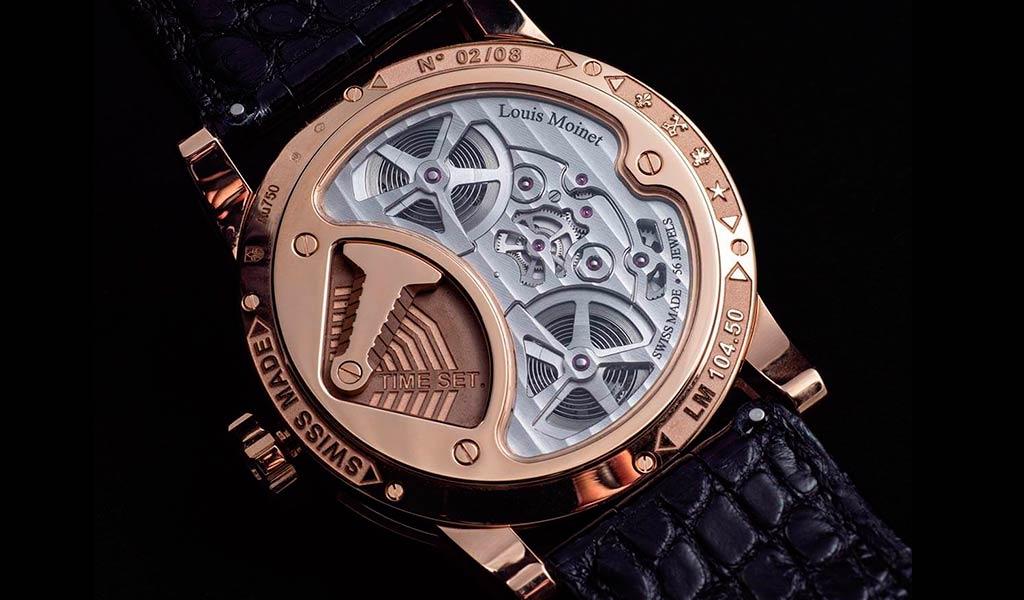 Наручные часы с парящим турбийоном Луи Муане