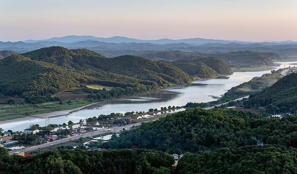 Река Ханган в Южной Корее