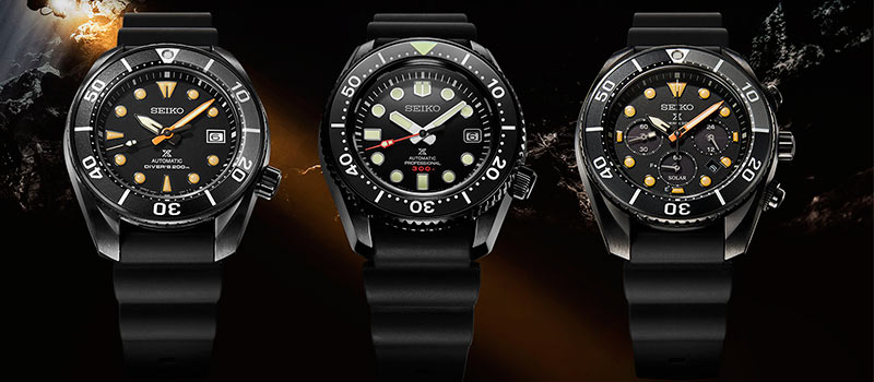 Seiko представляет новую серию часов для дайвинга Prospex Black Series Diver Limited Editions