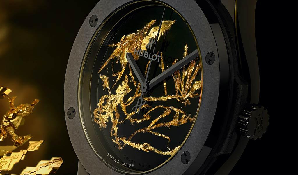 Наручные часы Hublot Classic Fusion Gold Crystal
