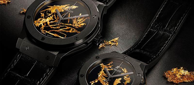 Hublot представили новую модель наручных часов Classic Fusion Gold Crystal