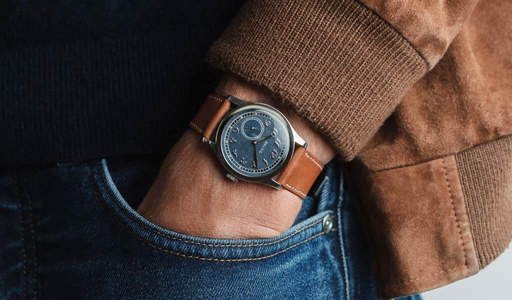 Французские наручные часы с микроротором Baltic MR01