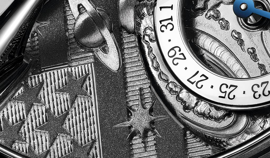 Циферблат наручных швейцарских часов MB&F