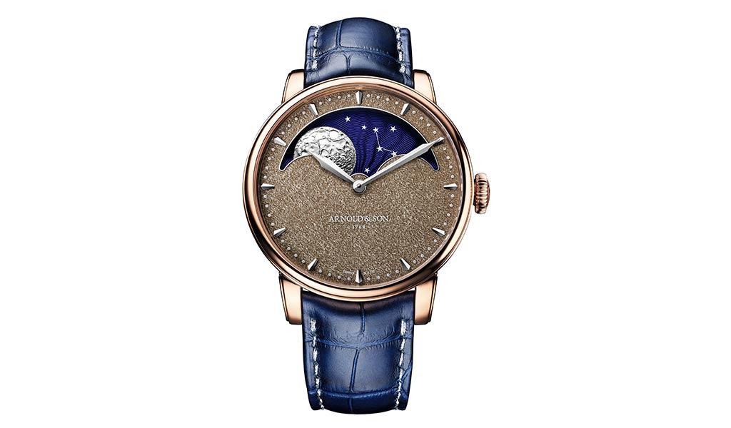Новые часы Arnold & Son Perpetual Moon Obsidian