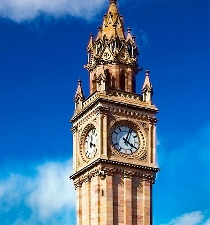 Часовая башня в Ирландии