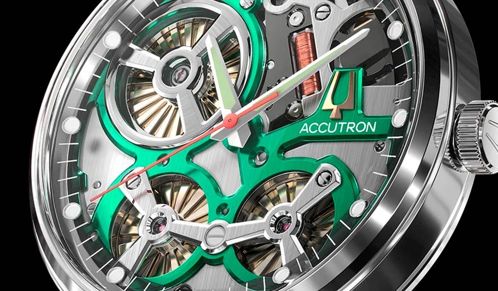 Часы с электростатическим механизмом Accutron