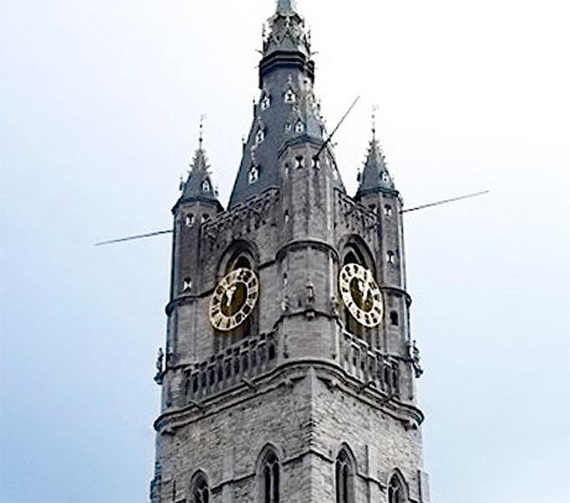Беффруа в городе Гент Бельгия
