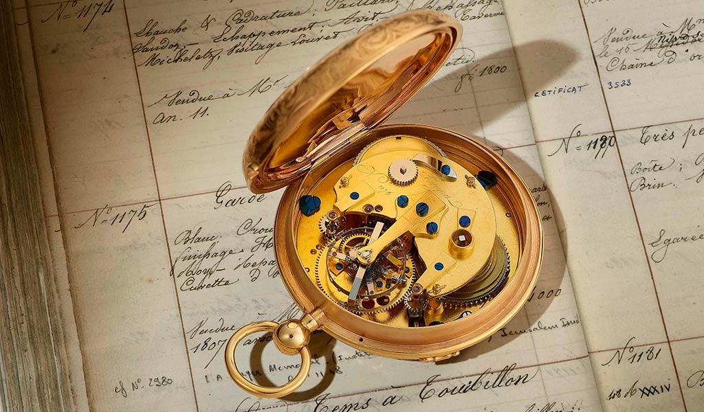 Турбийон в карманных часах Breguet